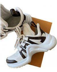 Louis Vuitton Archlight Leinen Sneakers - Weiß