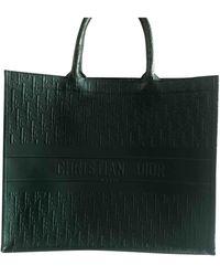Dior Book Tote Leder Shopper - Grün