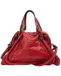 Chloé - Paraty Red Water Snake Handbag - Lyst
