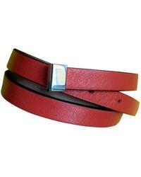 Lancel Leather Bracelet - Red