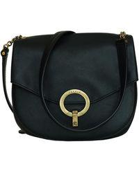 Sandro Leather Clutch Bag - Black