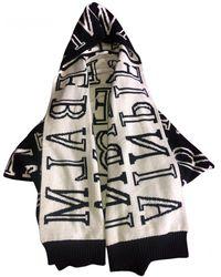 Balmain Wool Poncho - Black