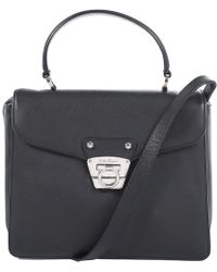 27c9b03f4921 Lyst - Ferragamo Soft Sofia Shoulder Bag in Black