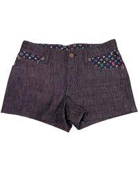 Louis Vuitton Navy Denim - Jeans Shorts - Blue
