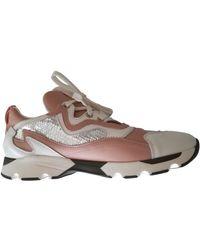 Carven Scarpe da ginnastica in pelle rosa
