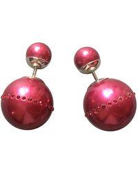 Dior Boucles d'oreilles en Perle Rose