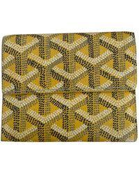 Goyard Malesherbes Yellow Cloth Purse Wallet & Case