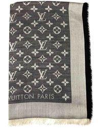Louis Vuitton Estola Châle Monogram de Seda - Gris