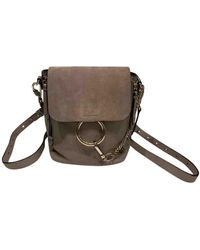 Chloé Grey Leather Backpack - Gray