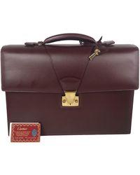 Cartier Leather Satchel - Purple
