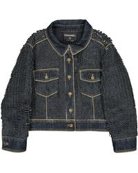 Chanel Jacke Denim - Jeans Blau