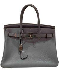 Hermès Birkin 30 Leder Handtaschen - Grau