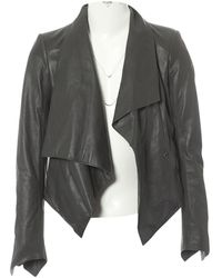 Helmut Lang - Anthracite Leather Jacket - Lyst