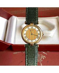 Cartier - Vintage Must Vendôme Gold Silver Watches - Lyst