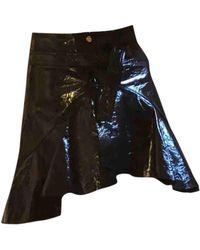 Maje Patent Leather Mini Skirt - Black