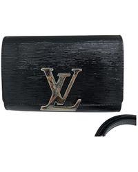 Louis Vuitton Louise Leather Crossbody Bag - Black