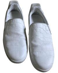 Louis Vuitton Deportivas en cuero blanco