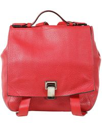 Proenza Schouler Small Courier Red Leather Backpack