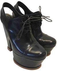 Louis Vuitton - Pre-owned Leather Lace Ups - Lyst