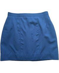 Chanel Wool Mini Skirt - Blue