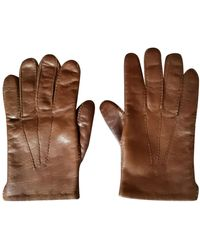 Golden Goose Deluxe Brand Leather Gloves - Brown