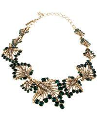 Oscar de la Renta Green Crystal Necklace