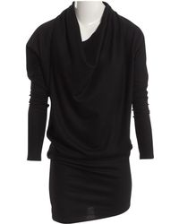 Helmut Lang Wool Mid-length Dress - Black