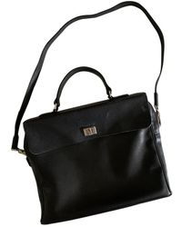 Longchamp Leather Satchel - Black