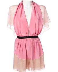 Marc Jacobs Pink Silk Jumpsuits