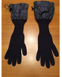 Burberry Wolle Lange Handschuhe - Lila