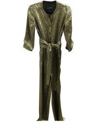 Vanessa Seward Gold Silk Jumpsuits - Metallic