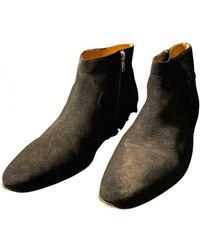 IRO Leather Boots - Multicolour