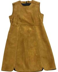 Longchamp Suede Dress - Green