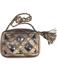 f7788e9659081d Lyst - Chanel Vintage Camera Black Suede Handbag in Black