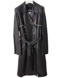 Chanel Leather Trench Coat - Black