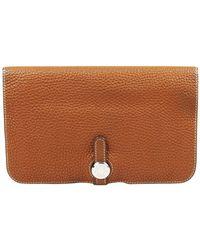 Hermès Dogon Brown Leather Wallet