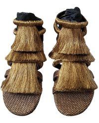 Sanayi 313 Gold Tweed Sandals - Metallic