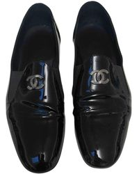 Chanel Patent Leather Flats - Black