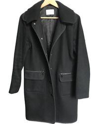 Sandro Abrigo en lana negro