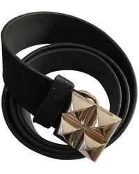 Maje Leather Belt - Black