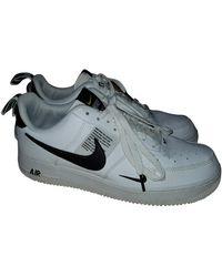 Nike Air Force 1 Leder Niedrige turnschuhe - Weiß
