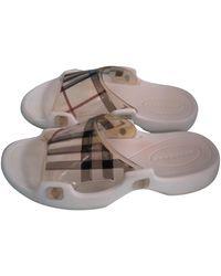 Burberry Beige Plastic Sandals - Natural
