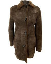 Burberry Shearling Coat - Brown