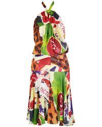 Dior Robe en Soie Multicolore