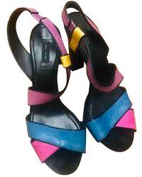 Marc Jacobs Leather Sandals - Multicolour