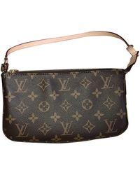 Louis Vuitton Pochette Accessoire Leinen Clutches - Braun