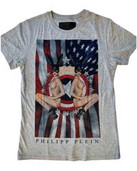 Philipp Plein Grey Cotton T-shirt - Multicolour