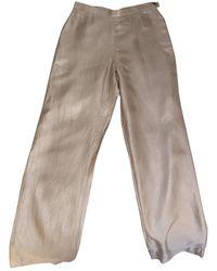 Chanel Pantaloni a sigaretta in Seta - Neutro
