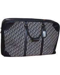 Dior Blue Cloth Travel Bag
