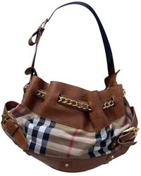 Burberry Leder Cross Body Tashe - Braun